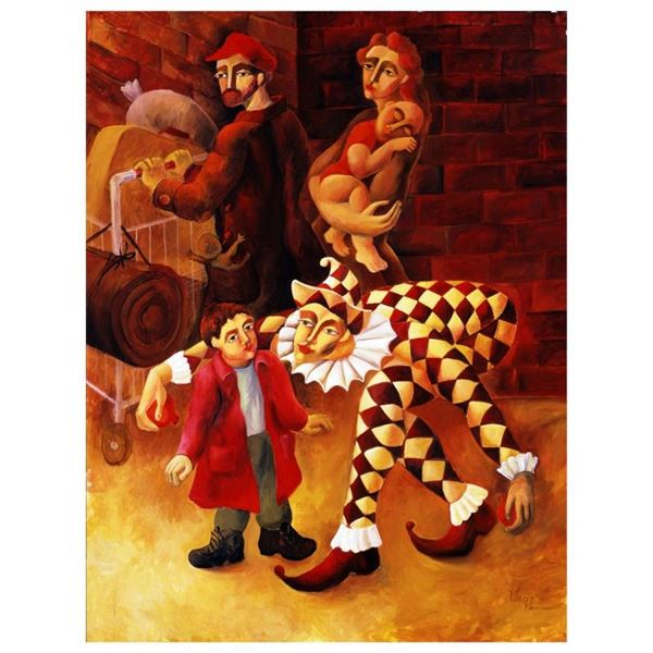 """Yuroz, """"The Harlequin's Gift"""" Hand Signed Limited Edition Serigraph on Canvas wi"""