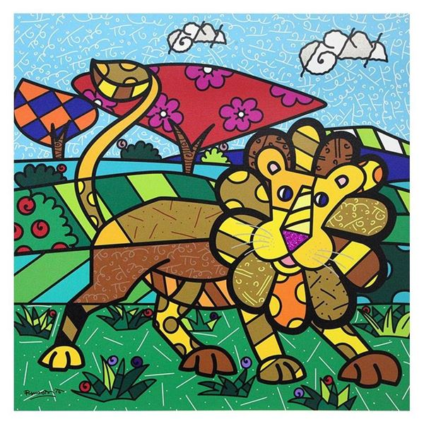 """Britto, """"Leo"""" Hand Signed Limited Edition Giclee on Canvas; Authenticated."""
