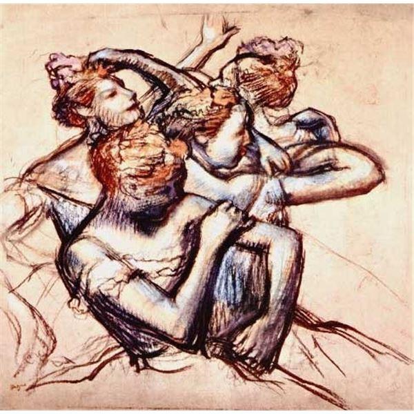 Edgar Degas - Ballet Dancers In Half-Figure