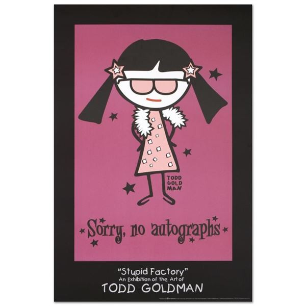 """""""Sorry, No Autographs"""" Collectible Lithograph (24"""" x 36"""") by Renowned Pop Artist"""