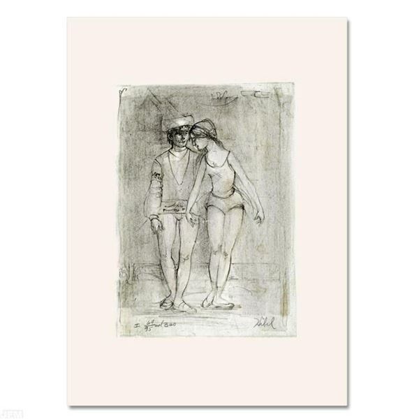 """""""Two Dancers"""" Limited Edition Lithograph by Edna Hibel (1917-2014), Numbered and"""