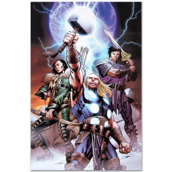 "Marvel Comics ""Ultimate Thor #3"" Numbered Limited Edition Giclee on Canvas by Ca"