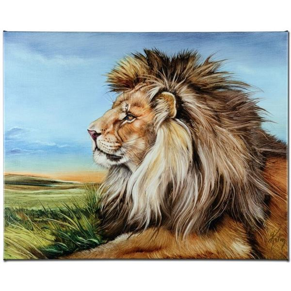 """Guardian Lion"" Limited Edition Giclee on Canvas by Martin Katon, Numbered and H"