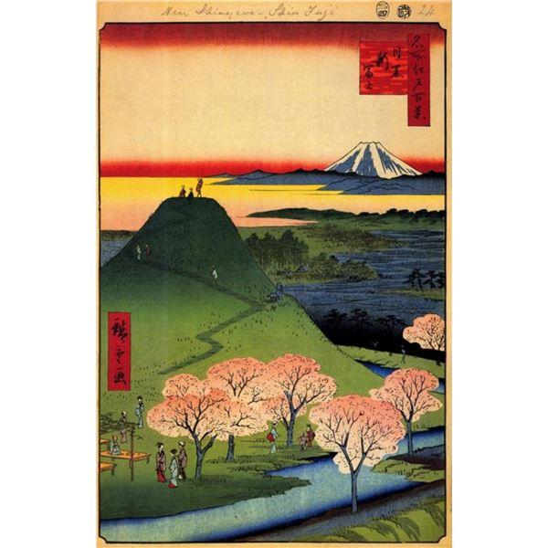 Hiroshige  - New Fuji, Mequro