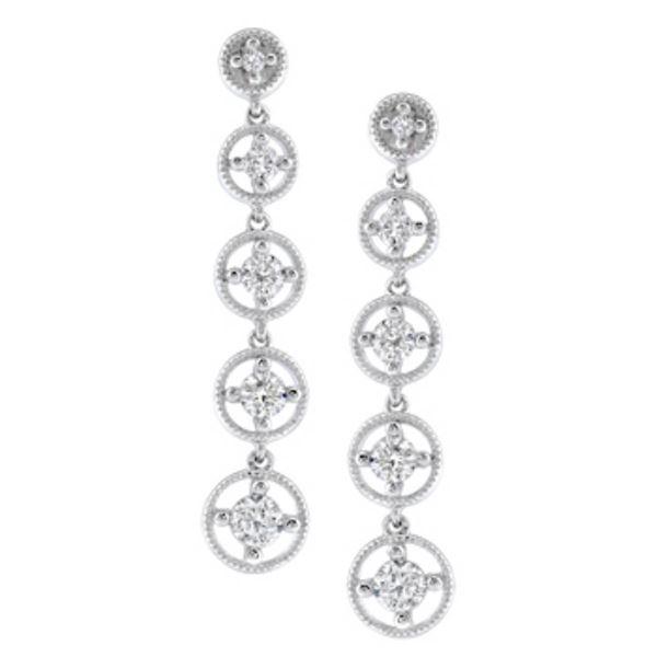 14k White Gold 0.50 ctw Diamond Earrings, (SI3/G-H)