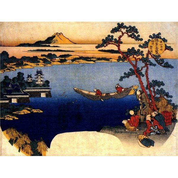 Hokusai - View of Lake Suwa