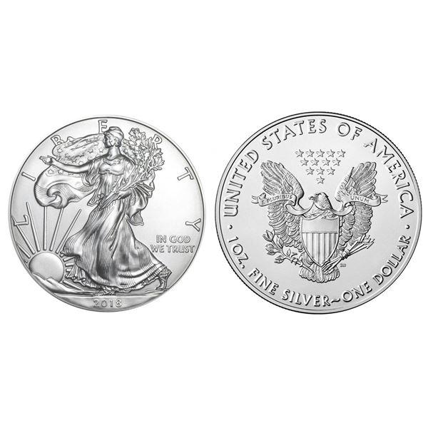 2018 American Silver Eagle .999 Fine Silver Dollar Coin