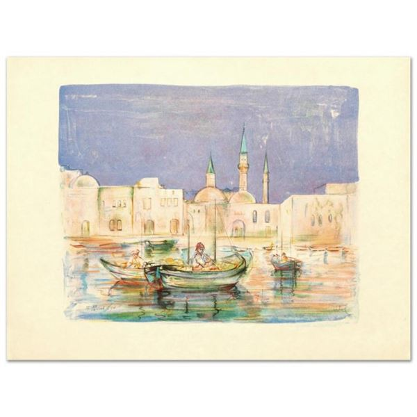 """""""Akko"""" Limited Edition Lithograph by Edna Hibel (1917-2014), Numbered and Hand S"""