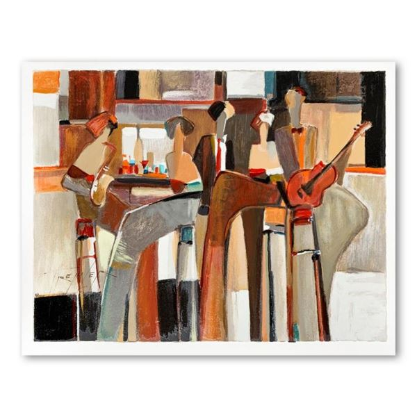 """Yuri Tremler, """"Music at the Bar"""" Limited Edition Serigraph, Hand Signed with Let"""