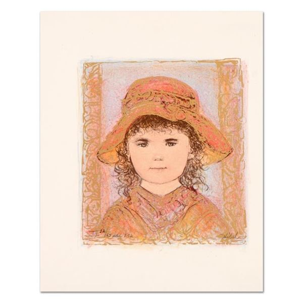 """Edna Hibel (1917-2014), """"Glori"""" Limited Edition Lithograph with Remarque, Number"""
