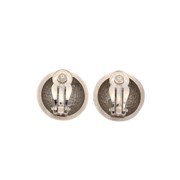 Hermes Silver Clip-on Earrings