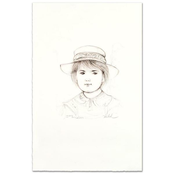 """""""Kirk"""" Limited Edition Lithograph by Edna Hibel (1917-2014), Numbered and Hand S"""