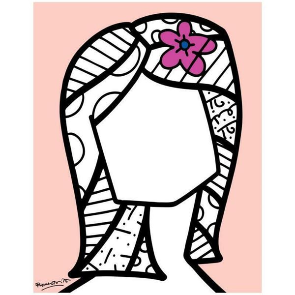 """Romero Britto """"Identidad"""" Hand Signed Limited Edition Giclee on Canvas; COA"""