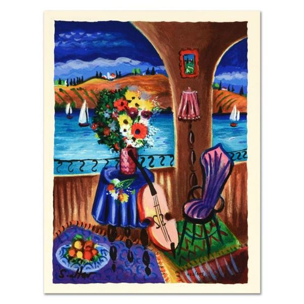 """Shlomo Alter, """"Spanish Guitar"""" Limited Edition Serigraph, Numbered and Hand Sign"""