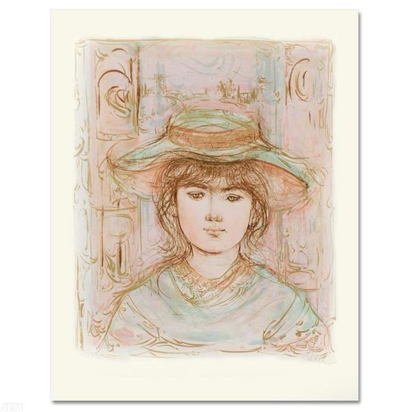 """""""January"""" Limited Edition Lithograph by Edna Hibel (1917-2014), Numbered and Han"""