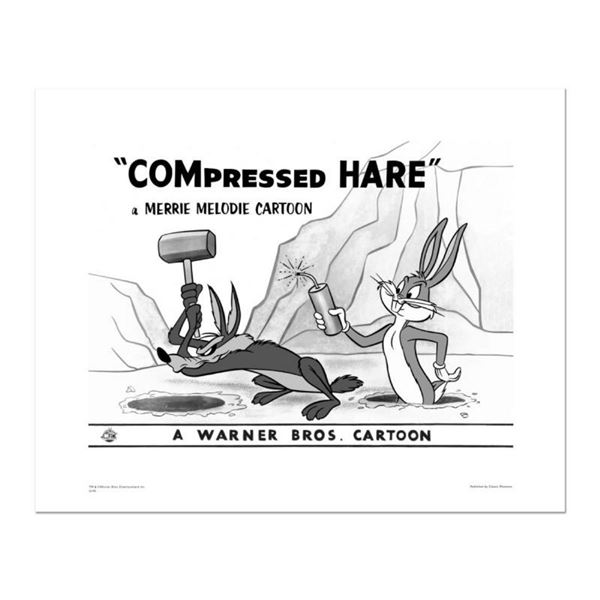 """Compressed Hare, Mallet"" Numbered Limited Edition Giclee from Warner Bros. with"