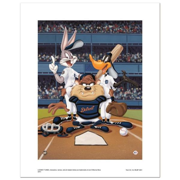 """At the Plate (Tigers)"" Numbered Limited Edition Giclee from Warner Bros. with C"