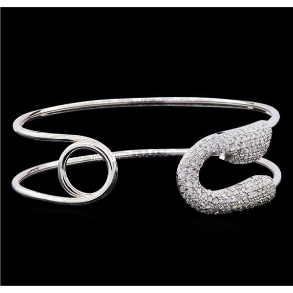 2.08 ctw Diamond Bracelet - 14KT White Gold