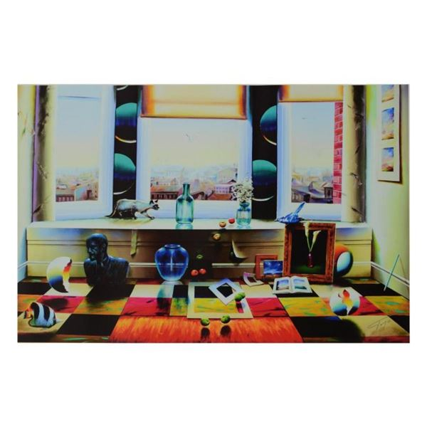 """Ferjo, """"Window with a View"""" Limited Edition on Canvas, Numbered and Signed with"""
