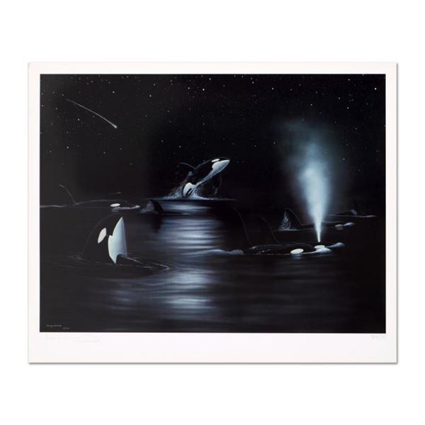 """Wyland, """"Orca Starry Night"""" Limited Edition Lithograph, Numbered and Hand Signed"""