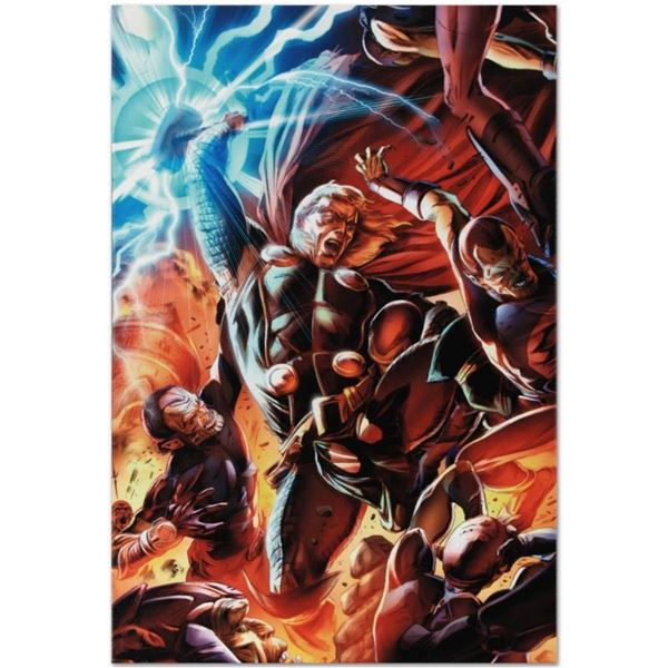 """Marvel Comics """"Secret Invasion: Thor #2"""" Numbered Limited Edition Giclee on Canv"""