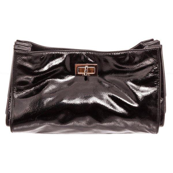 Chanel Black Patent Leather Shoulder Bag