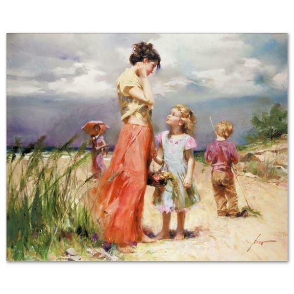"""Pino (1939-2010), """"Remember When"""" Artist Embellished Limited Edition on Canvas,"""