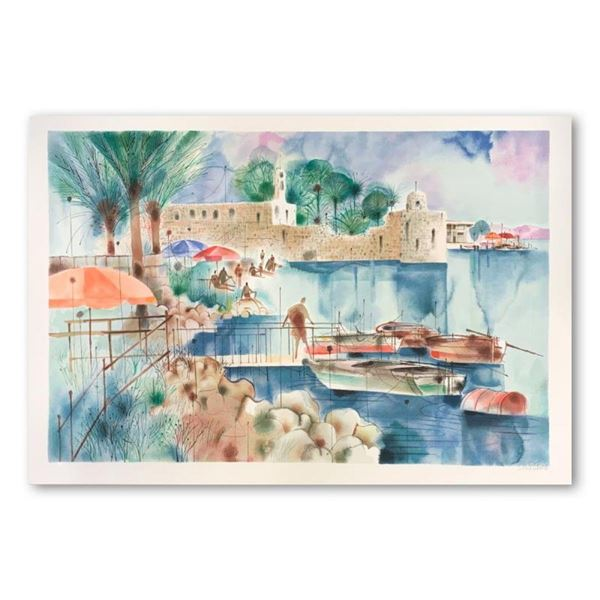 """Shmuel Katz (1926-2010), """"Sea of Galilee"""" Hand Signed Limited Edition Serigraph"""