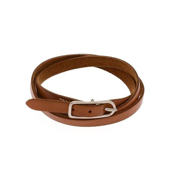 Hermes Brown Leather 1 Bracelet