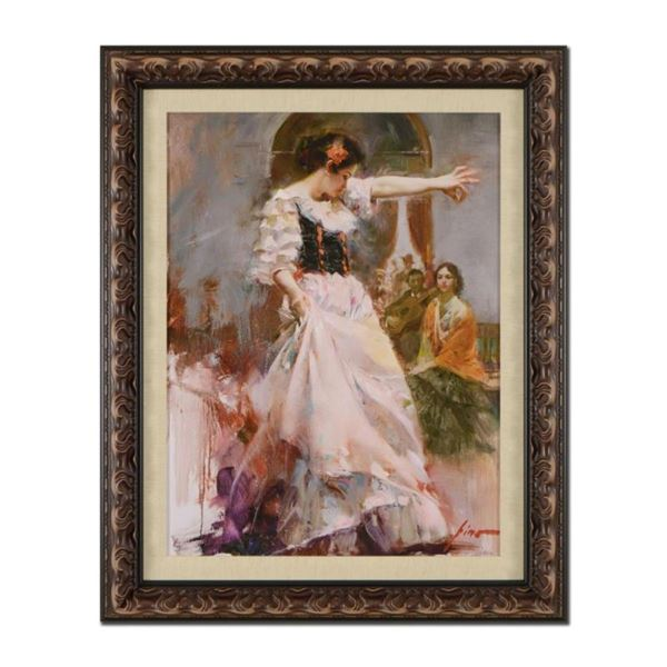 """Pino (1939-2010), """"Midnight Tango"""" Framed Limited Edition Artist-Embellished Gic"""