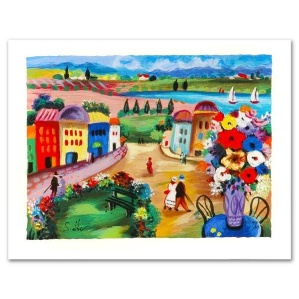 """Shlomo Alter, """"Spring Day"""" Limited Edition Serigraph, Numbered and Hand Signed w"""