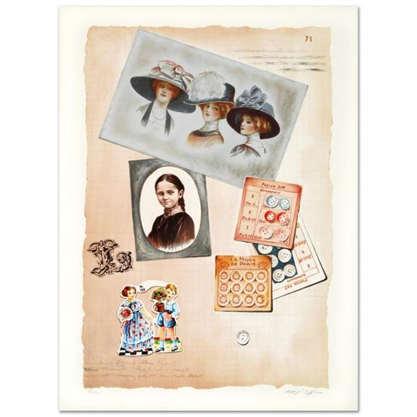 """""""Family Album II"""" Limited Edition Lithograph by Arie Azene, Numbered and Hand Si"""