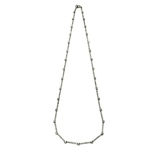 2.20 ctw Diamond Necklace - 18KT White Gold