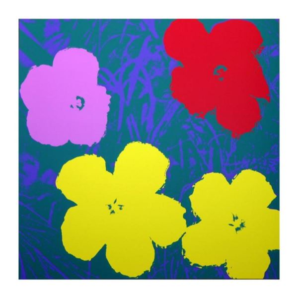 "Andy Warhol ""Flowers 11.65"" Silk Screen Print from Sunday B Morning."