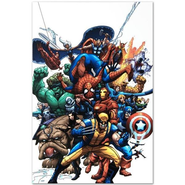 "Marvel Comics ""Marvel Team Up #1"" Numbered Limited Edition Giclee on Canvas by S"
