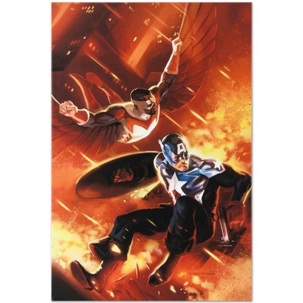 "Marvel Comics ""Captain America #607"" Numbered Limited Edition Giclee on Canvas b"