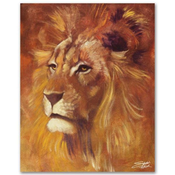 """Lion"" Limited Edition Giclee on Canvas by Stephen Fishwick, Numbered and Signed"