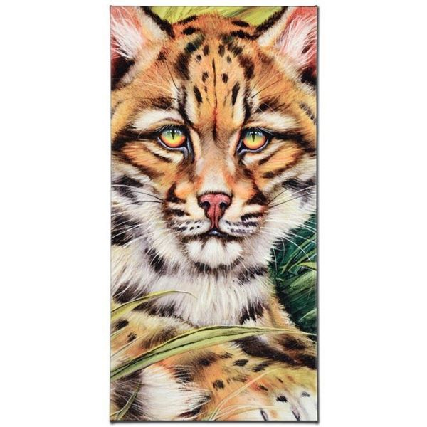 """""""Ocelot Eyes"""" Limited Edition Giclee on Canvas by Martin Katon, Numbered and Han"""
