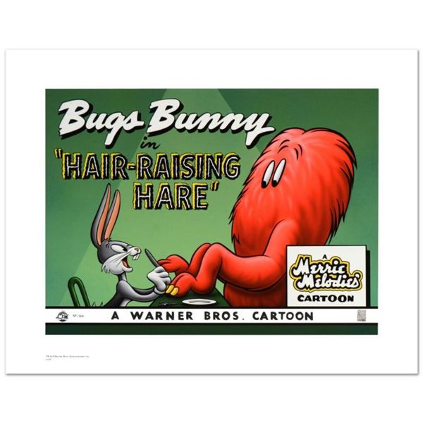 """""""Hair Raising Hare"""" Limited Edition Giclee from Warner Bros., Numbered with Holo"""