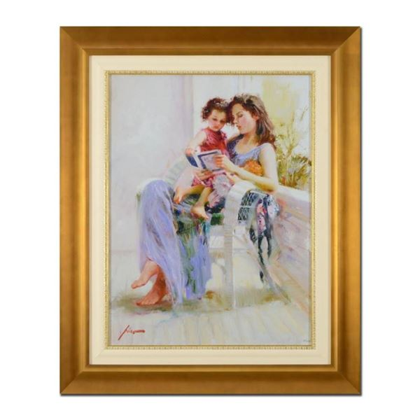 """Pino (1939-2010), """"Book of Poems"""" Framed Limited Edition Artist-Embellished Gicl"""