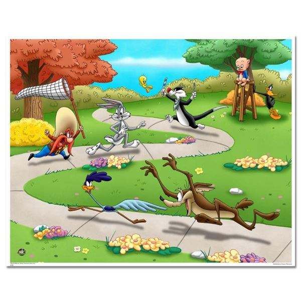 """Looney Tunes Picnic"" Numbered Limited Edition Giclee from Warner Bros, with Cer"