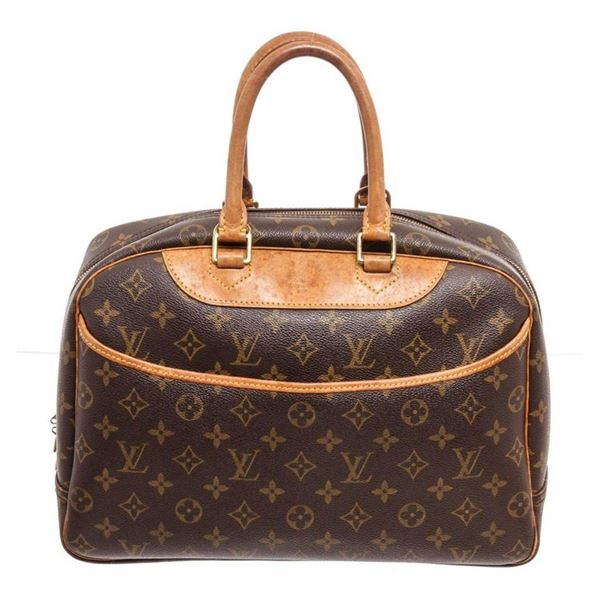 Louis Vuitton Brown Monogram Deauville Satchel Bag