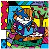 """Romero Britto """"Journey"""" Hand Signed Giclee on Canvas; Authenticated"""