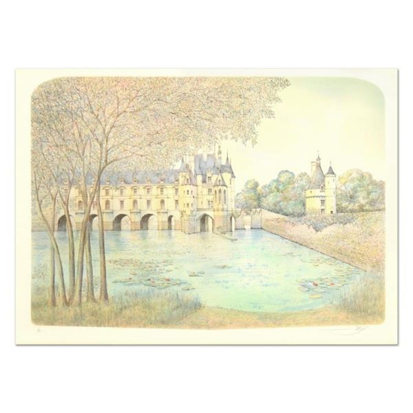 "Rolf Rafflewski, ""Chateau VI"" Limited Edition Lithograph, Numbered and Hand Sign"