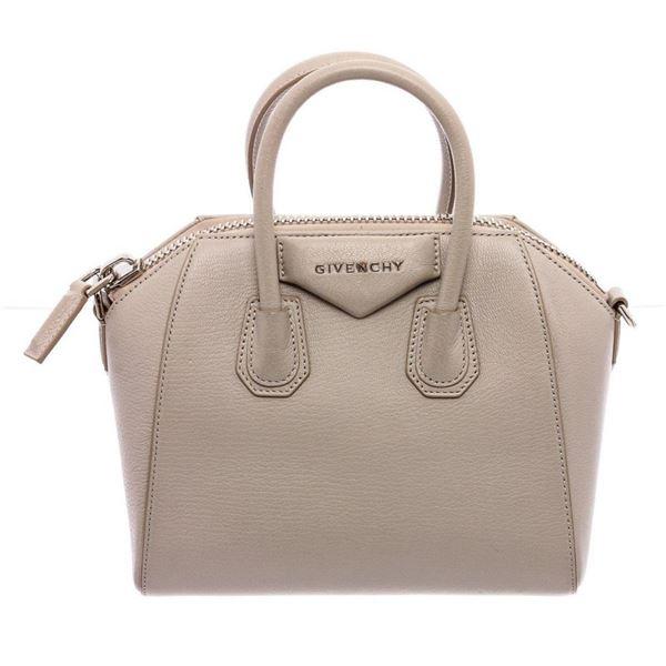 Givenchy Cream Leather Mini Antigona Satchel Bag