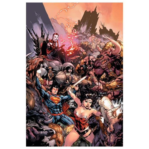 """DC Comics, """"Superman/ Wonder Woman #17"""" Numbered Limited Edition Giclee on Canva"""