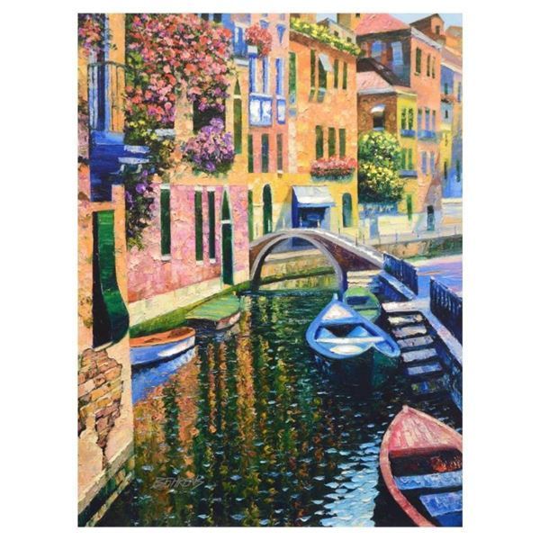 """Howard Behrens (1933-2014), """"Romantic Canal"""" Limited Edition on Canvas, Numbered"""