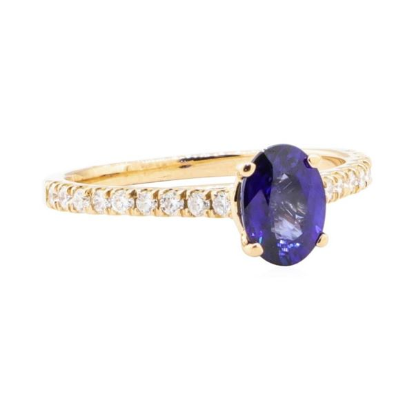 1.24 ctw Sapphire and Diamond Ring - 14KT Rose Gold