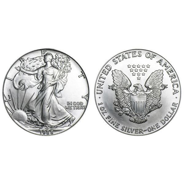 1988 American Silver Eagle .999 Fine Silver Dollar Coin