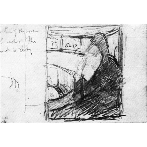 Mary Cassatt - Sketch (In The Opera)